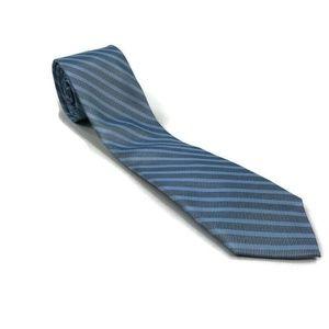 Calvin Klein Mens Neck Tie Silk Slim Striped Blue